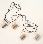 Coffee Pot and Cup with Hooks ( 19