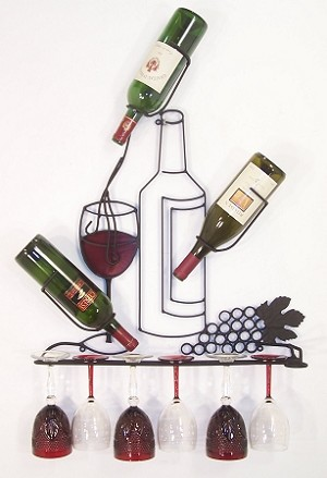 "Wine Rack 25 with Red ( 26""w   x   35""h   x   6""d )"