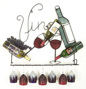 "Vino 11 With Full Color   ( 32.5""w   x   32""h   x   6""d )"