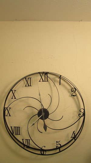 "Large 3D Clock 2 (1"" x 1/8"" Steel Ring)"