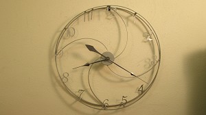 "3D Clock 2 (1/2"" x 1/8"" Steel Rings)"