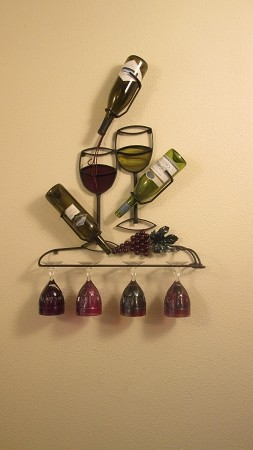 "Wine Rack 40 Full Colors ( 24""w x 34""h x 5""d )"
