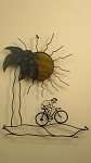 Scene 6 Palm tree Male Biker W/ Yellow Sun 27